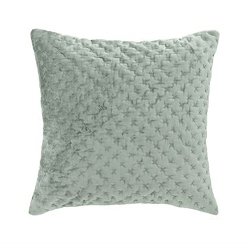 Cozy Living pude Cilie Velvet Embroid Lux Moss 50x50cm
