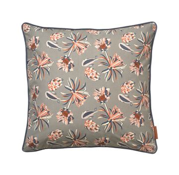 Cozy Living bomulds pude Palm Flower Mud 50x50cm