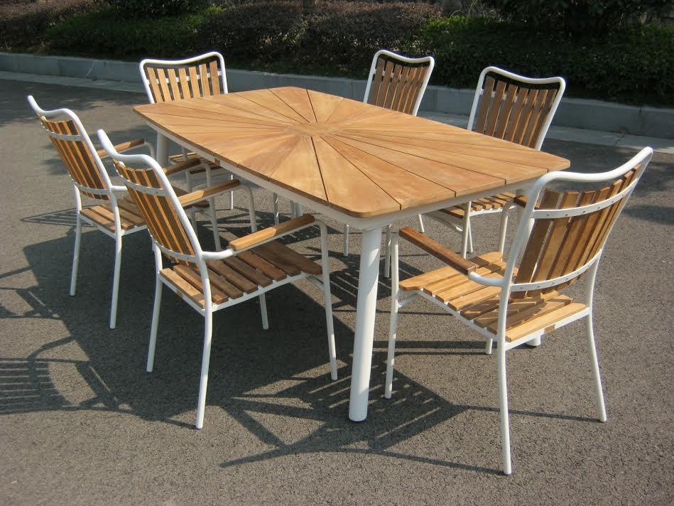 havemøbler teak Daneline Teak Havebord 200/6 havemøbler teak