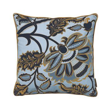 Cozy Living bomulds pude Margrethe dusty Blue 50x50cm