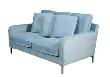Velour sofa model Messina 2 personers