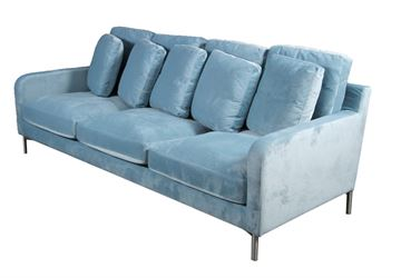 Velour sofa model Messina 3,5 personers