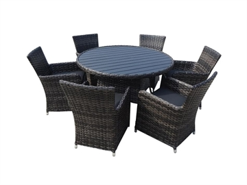 Artwood og polyrattan  Sort
