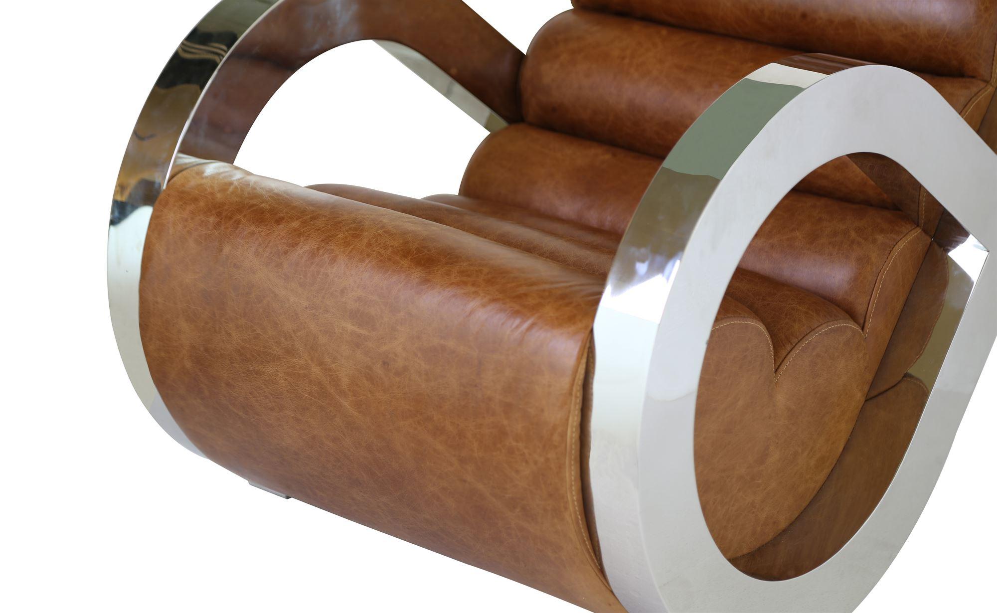 3cd81b0b81b Hvilestol Læder/Stainless Art deko chair