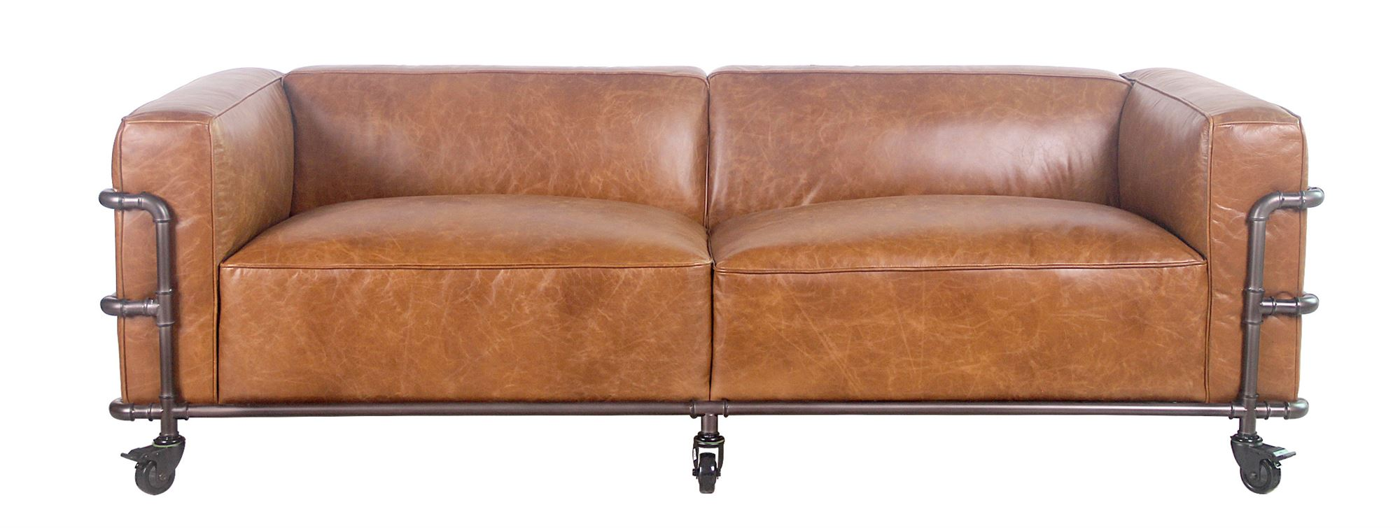 Picture of: 3 Pers Laeder Sofa Model Spencer