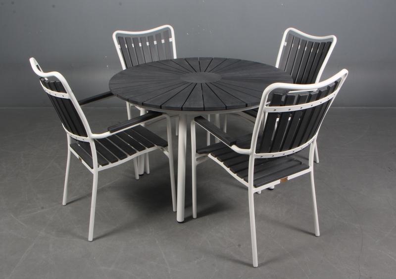 Topmoderne Rundt Havebord + 4 stole JL-41