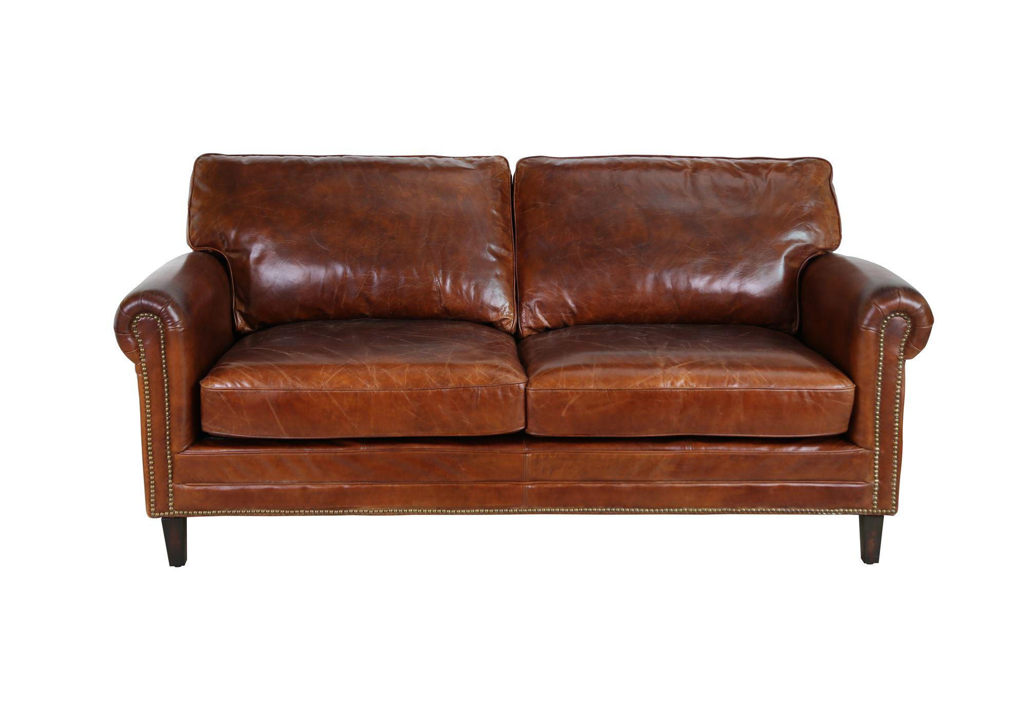 2 Pers Laeder Sofa Model Fairfield